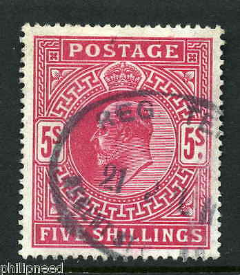GB KEVII SG 264 5s Deep Bright Carmine Used Regent St London Postmark [A8