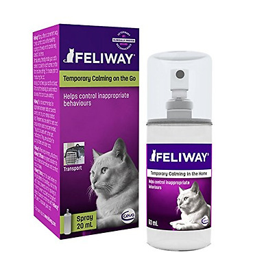 Feliway Pheromone Spray for Cats, 20 ml - Behaviour Cat Spray UK SELLER