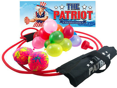 The Patriot Water Balloon Launcher / 200 Yard Slingshot / Includes Splash Balls