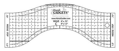 Handi Quilter Wave C Ruler ~ 8 inch Wave for Mid-Arm & Longarm Quilting Machine