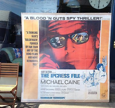 Original Film Poster - Michael Caine - Ipcress File - Spy Thriller - Iconic