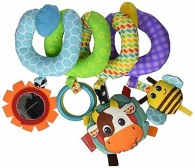 NEW Blue Baby Spiral Activity Toy Play Fun Hanging Cute Crib Car Seat Develop