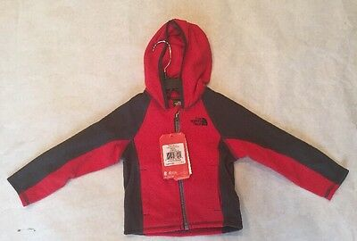 The North Face Kids Toddler Boys Glacier Full Zip Hoodie Fleece Jacket NEW 2-4T
