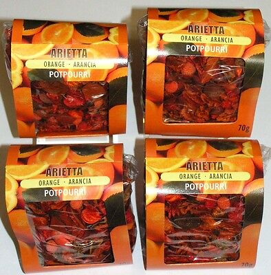 4 gr. Pack. POTPOURRI  Raumduft ORANGE 280g  Naturdeko Mix  Händlerpreis 5468