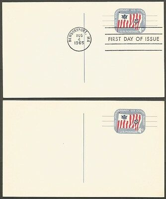 2-1965 Us Coast Guard 175Th Anniversary 4C Postal Cards 1-First Day Of Issue