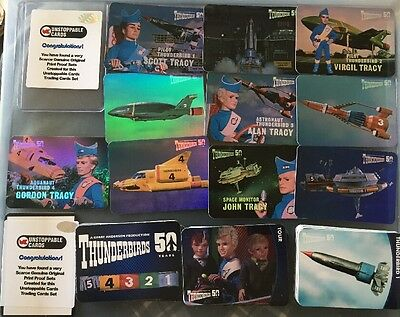 Thunderbirds 50 Years Unstoppable Cards Proof Card Set Round Corners Set + Foils
