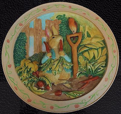 BEATRIX POTTER Bradford Davenport Plate 3D THE TALE OF PETER RABBIT
