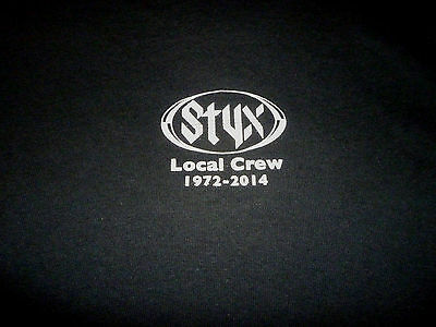 styx 2014 Tour Crew Shirt ( used Size XL ) Very Nice Condition!!!