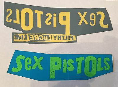 RARE 2 Sex Pistols Filthy Lucre Promo sticker & Window Cling. Mint Punk Rock Sid