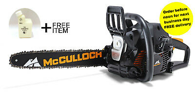 McCulloch CS 400T Petrol Chainsaw Gold Grade +FREE GIFT RRP£10.49