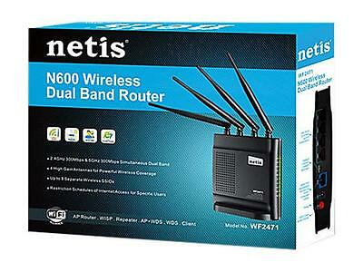 Router Wireless Dual Band 2.4GHz/5GHz 300Mbps Router/AP/Repeater/Cl Netis WF2471