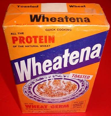 VINTAGE 1950's 60's WHEATENA Wheat Germ Cereal Full Box OLD STORE STOCK MIB NOS