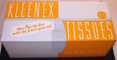 VINTAGE 1930's KLEENEX TISSUES Old Store Stock MINT IN BOX NOS RARE MIB #2 rare