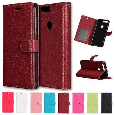 Luxury Flip Wallet Stand Card Slot PU Leather+TPU Cover Case For Various Phone