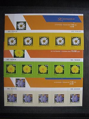 Estonia - 2004/06/07 Standard Stamps. Flowers, block of 5, MNH