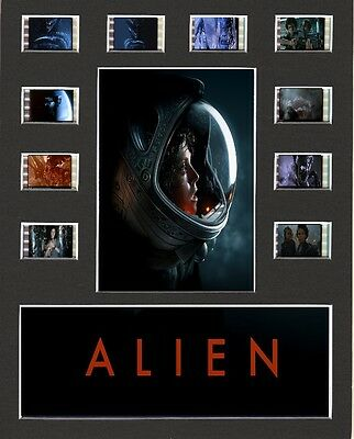Alien replica Film Cell Presentation Display 10 x 8 Mounted 10 individual cells