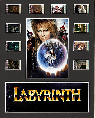 Labyrinth replica Film Cell Presentation 10 x 8 Mounted 10 cells David Bowie