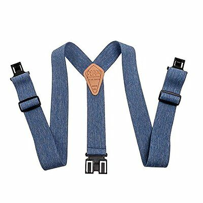 "Perry Hook-On Belt Suspenders Regular - The Original - Denim Blue - 2""W x 48""L"