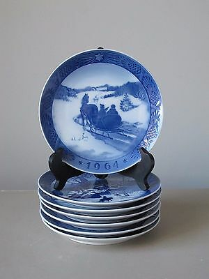 Royal Copenhagen Christmas Plates, Set of (7), 1964 '67 '69 '73 '74 '75 '83