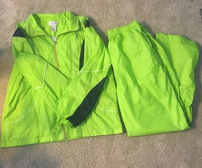 VTG STUDIO WORKS WINDBREAKER Jacket L WARM UP TRACK JOGGING Pants  XL Green Suit