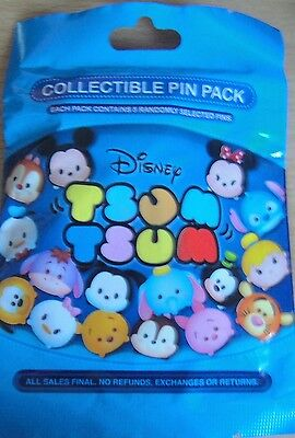 Disney Collectable Tsum Tsum Mystery Pin Pack contains 5 Randomly Selected Pins