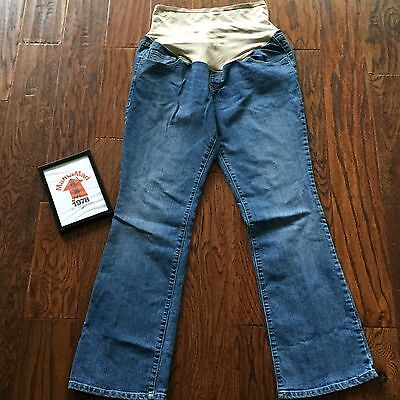Old Navy Maternity Boot Cut Smooth Panel Blue Jeans Womens Size 14 Denim Pants