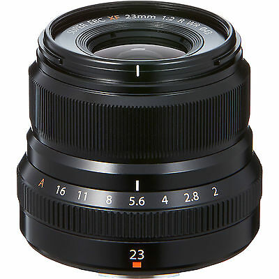 Fuji XF 23mm F/2 R WR Lens (Black)