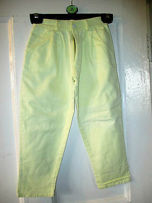 Girls Cute Vintage Rascals  cotton  Lemon  Trousers   age 3-4 yrs