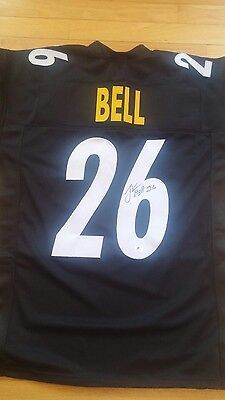 Le'Veon Bell Pittsburgh Steelers RB Signed Auto Jersey JSA Witness NFL Black W@W