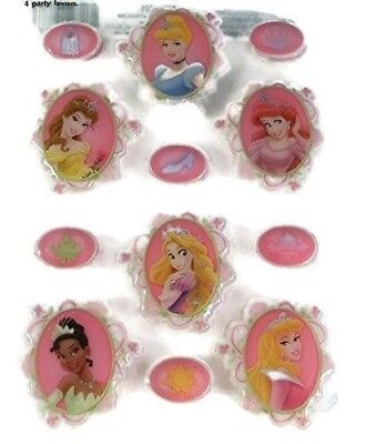 Disney Princess 3d Puffy Stickers - 2 Sheets