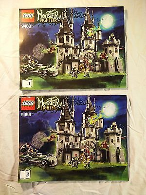 Lego 9468 Monster Fighters Vampyre's Castle Instruction Manual 1&2 Booklet Only