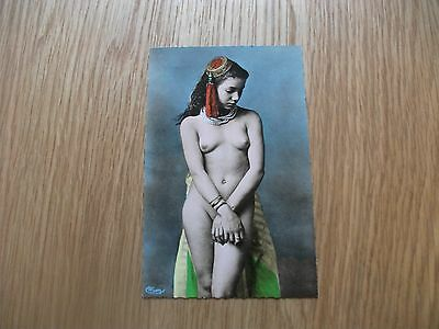 Vintage Postcard Risque Nude North Africa Early 1900s