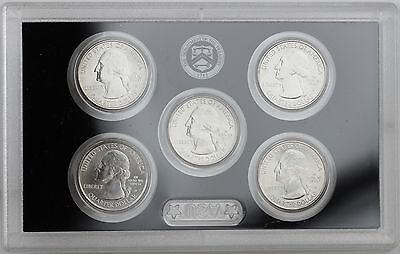 2011-D America the Beautiful Quarters 5-coin Uncirculated Set: PA,MT,WA,MS,OK
