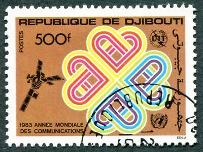 DJIBOUTI 1983 500f SG883 used NG World Communications Year f #W30