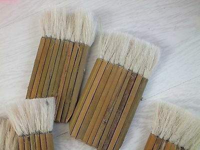 3 Japanese Chinese Budget Goat Hair 10 8 6 Bamboo Stick Hake Painting Brush Art