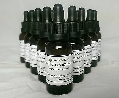 PINE POLLEN EXTRACT / TINCTURE by HerbalView, 100% Organic, 1:1 ratio