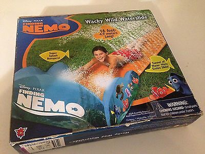 Walt Disney Pixar Finding Nemo Wacky & Wild 16 Foot Waterslide NEW! Free US Ship