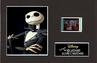 The Nightmare Before Christmas replica 35mm Mounted Film Cell Display 6 x 4
