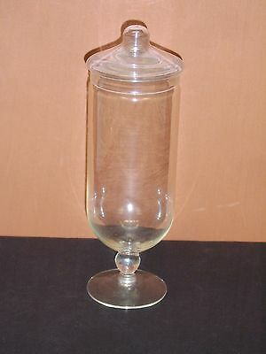 "11 1/2"" Pedestal Glass Apothecary Jar"