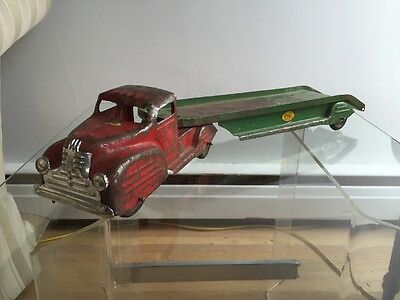 Lincoln Toys Pressed Steel Toy Truck Auto Transport.