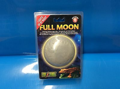 Exo Terra Full Moon Lamp 1W  Night Light For Reptile Vivarium