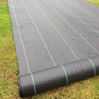 2m x 25m Heavy Duty Woven Weed Control Ground Cover Membrane Landscape Fabric