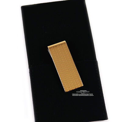 Cartier Gold Plated Ecailles Scale Pattern Money Clip