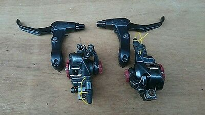 Avid bb7 brakes caliper and levers set front and back