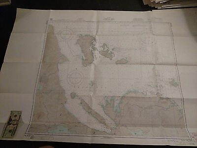 Antique Vintage US Navy Nautical Chart Aeronautical Map   Lamon Bay  PHILIPPINES