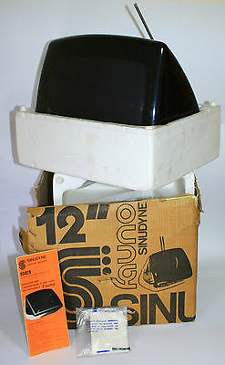 "Vintage 1973 Television Sinudyne Fauno 12"" + Box + Instructions Italy Space Age"