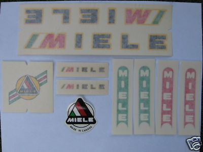 Vintage Miele Bicycle Bike Decal Decals Sticker Stickers Set Not Remade!