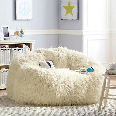 Woolly Style Lounger Size Bean Bag Chair Sofa Chairs Seat Living Room Furniture