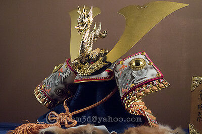 Japanese Samurai Kabuto -Great Ryugyoku Helmet- Rising Dragon