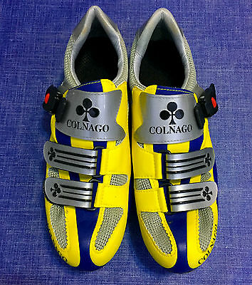 Special Edition COLNAGO YELLOW GRAY BLUE scarpe MTB cycling campagnolo shoes